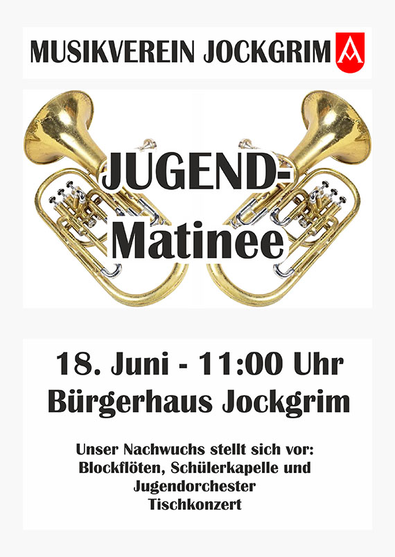 Jugendmatinee Musikverein Jockgrim 2017